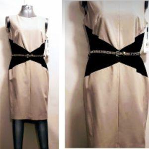 Calvin Klein Khaki and black Sleevless dress
